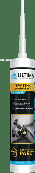 Герметик аклиловый белый, 280мл, Ultima